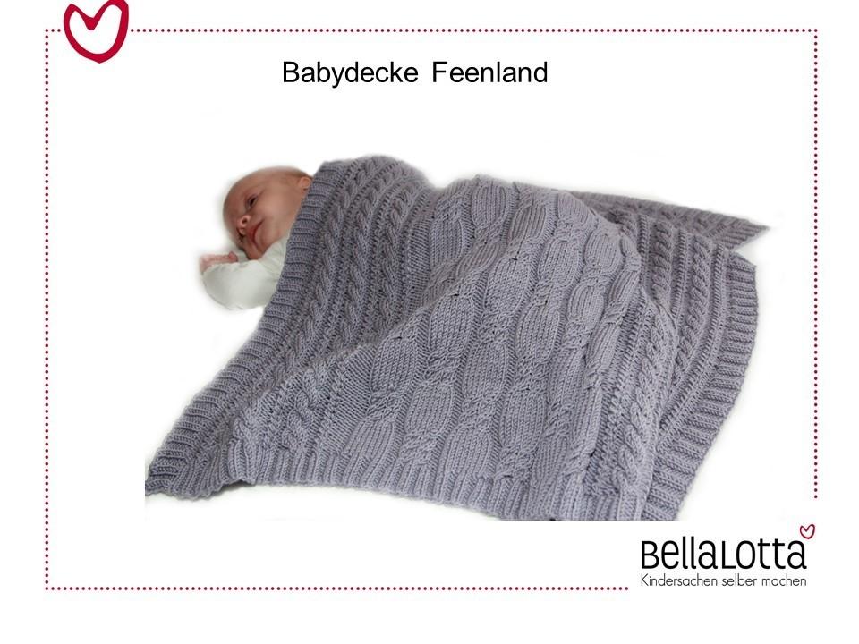 Strickanleitung für unsere Babydecke Feenland