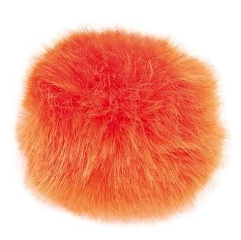 Kunstfellpompon orange