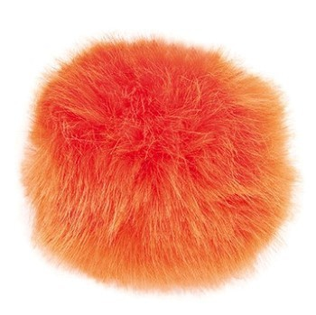 Kunstfellpompon orange