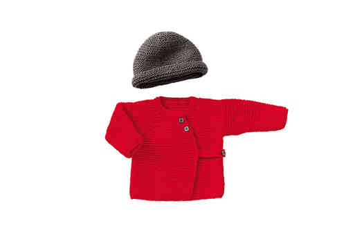 Strickset Babyjacke und Mütze, verschiedene Farben, Gr.50-68