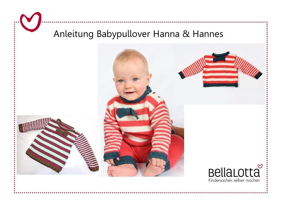 Gut bekannt Anleitung Babypullover stricken in den Größen 62-96 für mutige NM19
