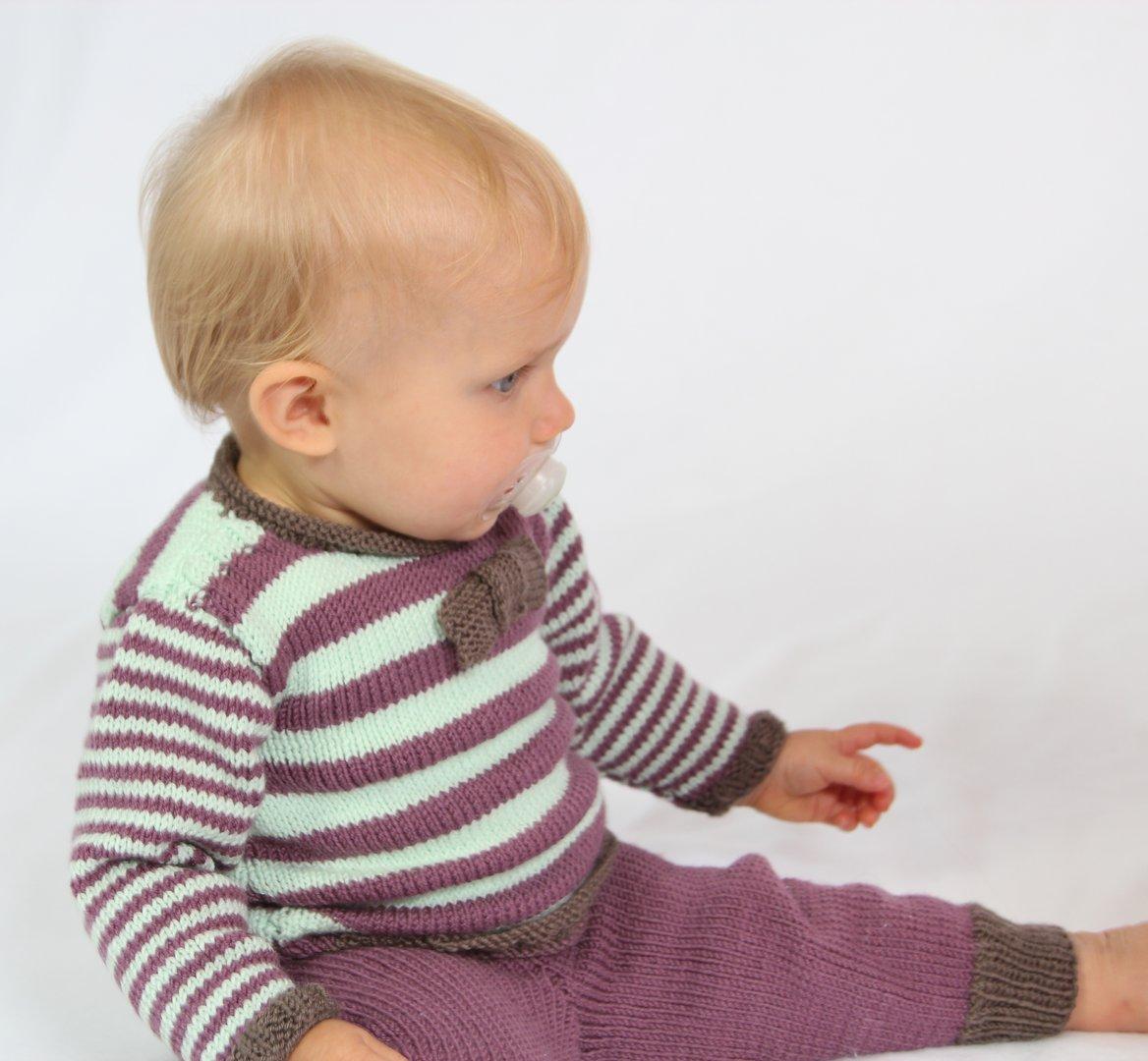 Strickanleitung Babypullover Hanna & Hannes, Gr. 62-92, für mutige Anfänger
