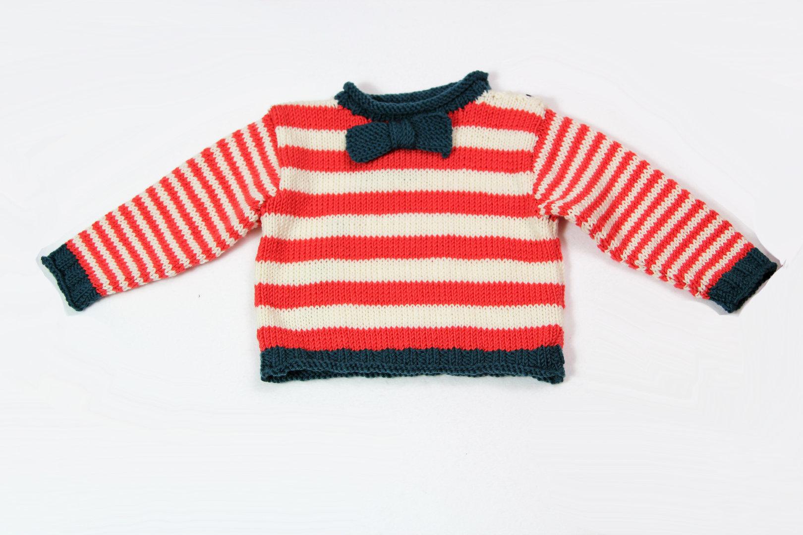 Bevorzugt Anleitung Babypullover stricken in den Größen 62-96 für mutige WF41