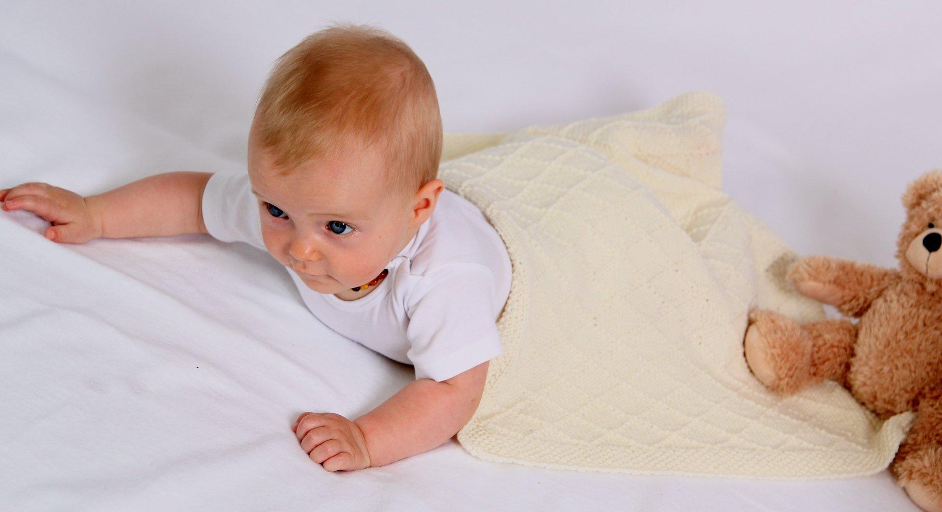 Strickanleitung Babydecke Wunschkind in 2 Größen, Anfängertauglich