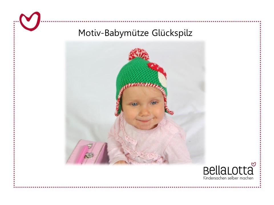 Häkelanleitung Babymütze Glückspilz, 0-2 Jahre, für Anfänger