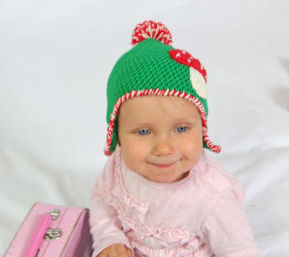 Häkelanleitung Babymütze Glückspilz, 0-2 Jahre, für Anfänger ...