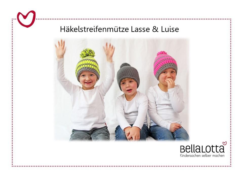 Anleitung Häkelmütze Lasse & Luise, Kleinkind-Erwachsener, für Anfänger