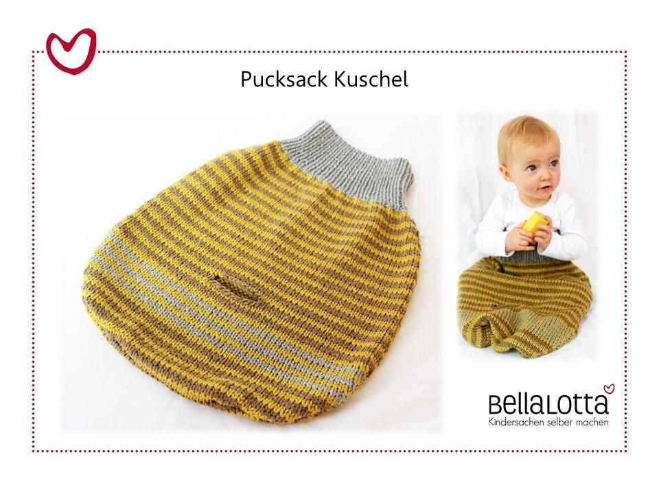 Strickanleitung Pucksack Kuschel, 0-12 Monate, für Anfänger