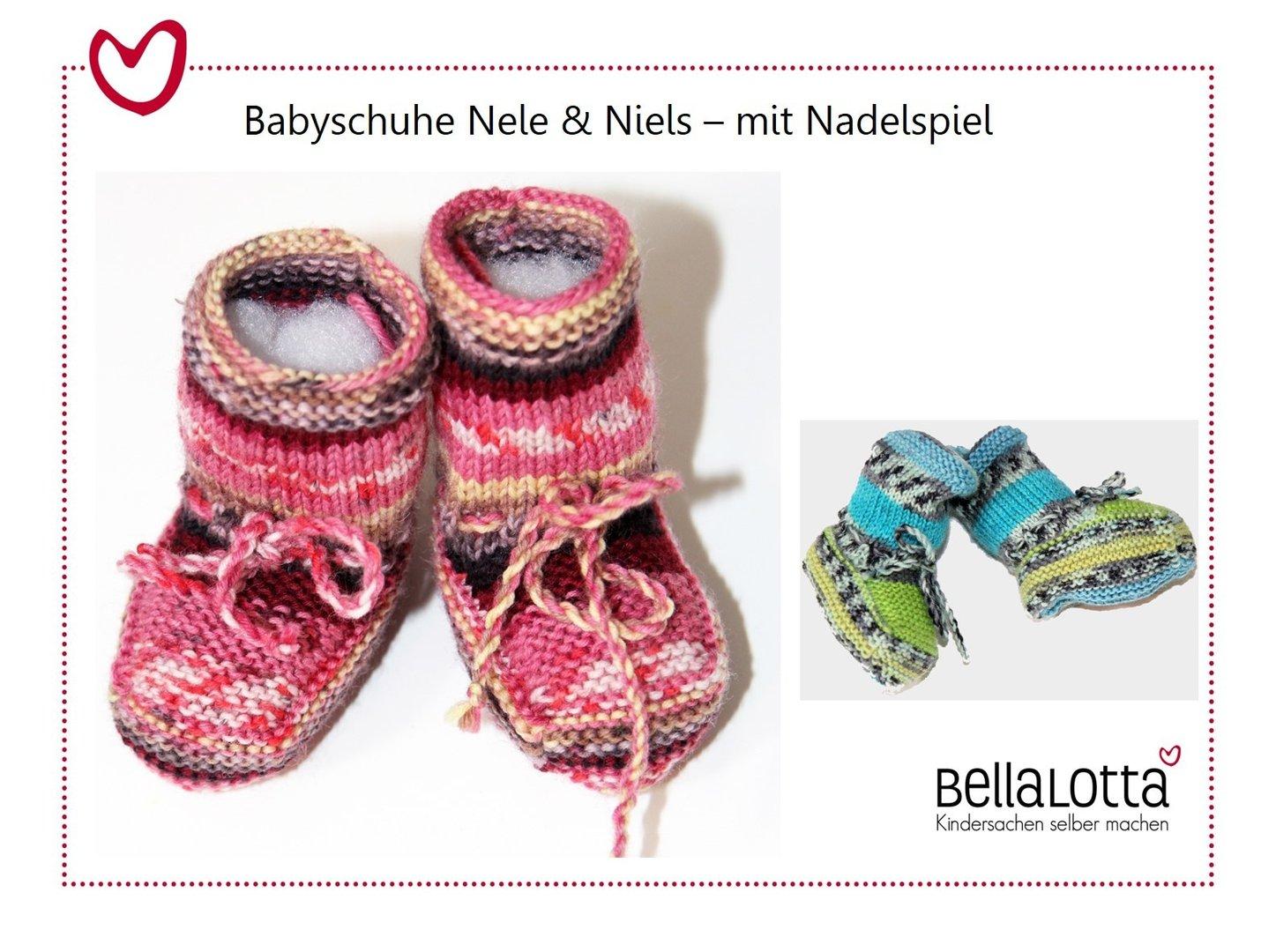 Strickanleitung Babyschühchen Nele & Niels, 0-9 Monate