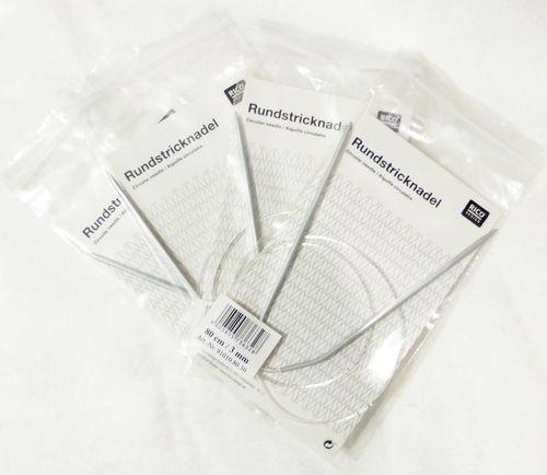 Rundstricknadel Aluminium - 5mm - 80cm lang -  RICO DESIGN