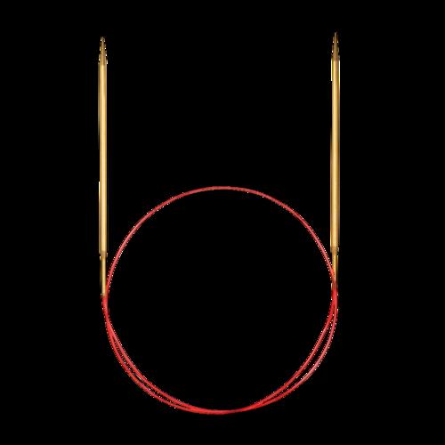Feinstricknadel Messing, 60cm lang und 4mm stark von addi