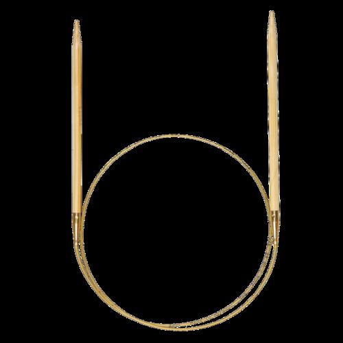 Rundstricknadel Bambus, 80cm lang und 4mm stark von addi