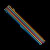 Nadelspiel Aluminium eloxiert, 20cm lang und 4mm stark von addi