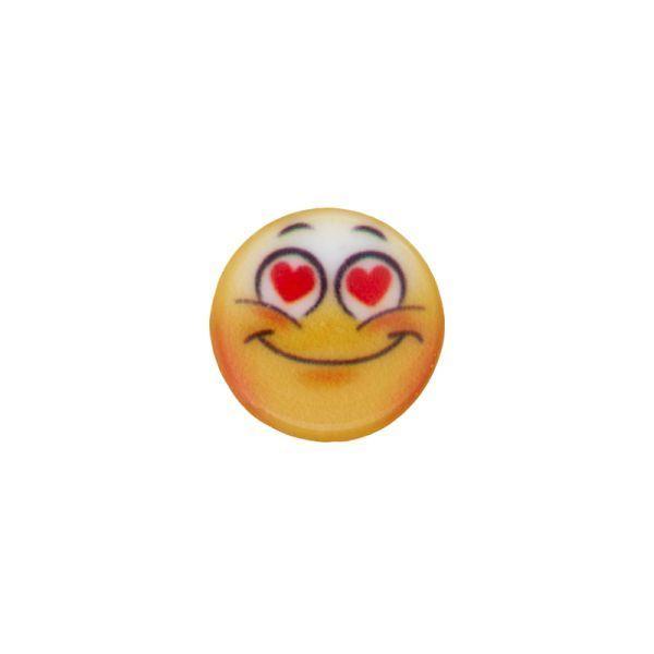 Smiley verliebt - mit Öse - 15mm