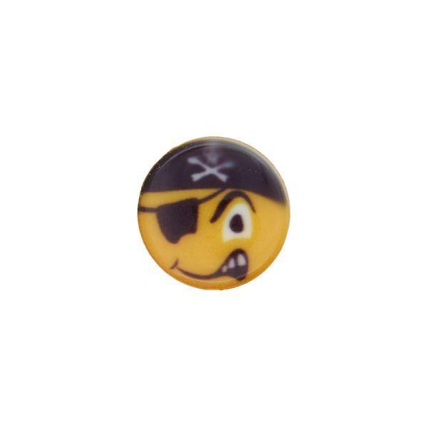 Smiley Pirat - mit Öse - 15mm