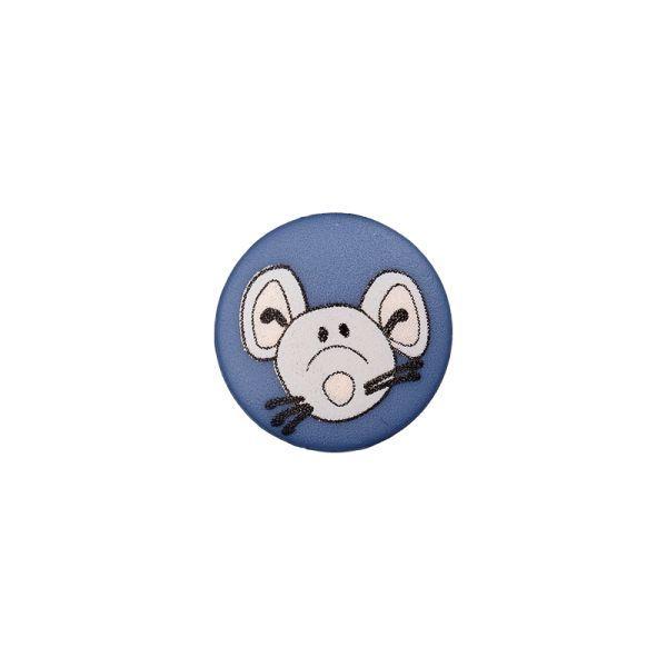 Knopf Maus - mit Öse - 12mm - in vielen Farben