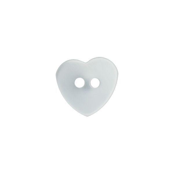 Herzknopf in weiß oder violett - 2 Loch - 12mm