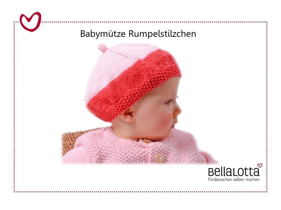 Strickanleitung Babymütze Rumpelstilzchen, 41-48cm, 0-3 Jahre, für Anfänger