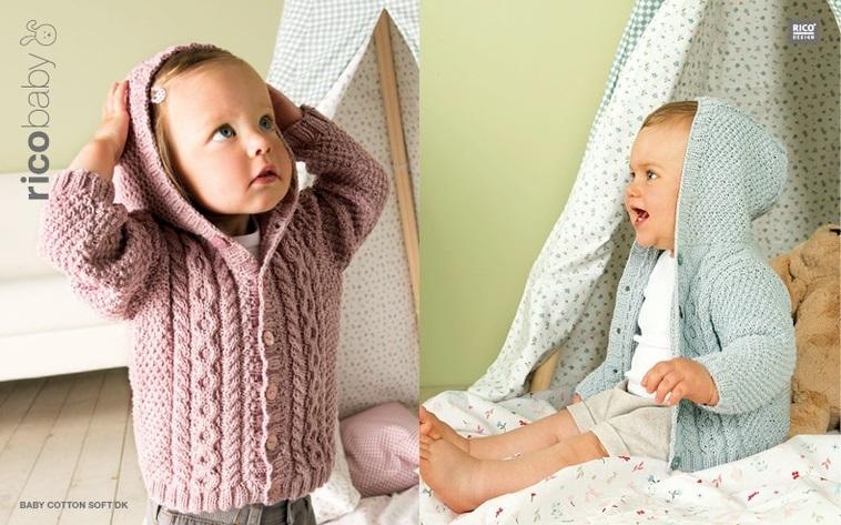 Essentials Baby Cotton Soft DK - rot-mouline - RICO Design