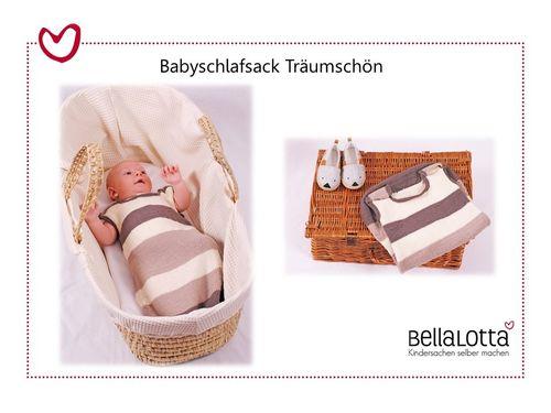 Strickset Merino - Babyschlafsack Träumschön, onesize ca.60cm