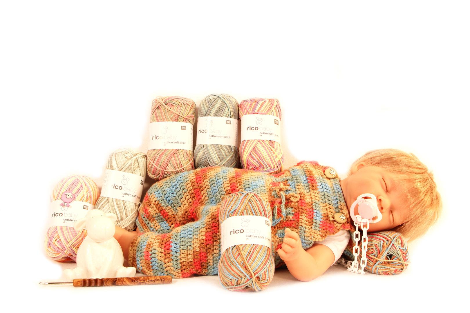 Häkelset Baumwolle - Babylatzhose Löwenzahn in der Größe 62-68