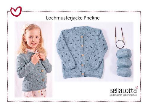 Anleitung Kinderjacke Pheline in 3 Größen von 3-8 Jahren