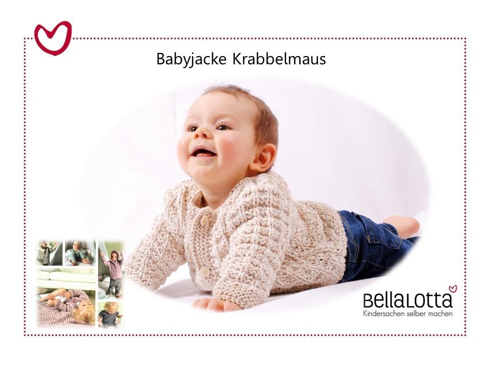 Strickset Babyjacke Krabbelmaus in 3 Größen von 62 bis 92