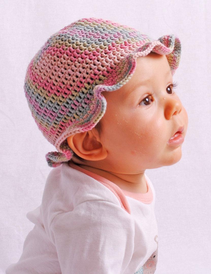 Häkelanleitung Sonnenhut Sophie, 0-2 Jahre, für Anfänger