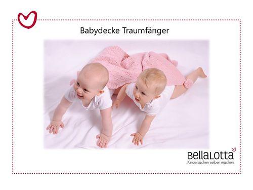 Strickset Babydecke Traumfänger in reiner Merinowolle - 45x62cm