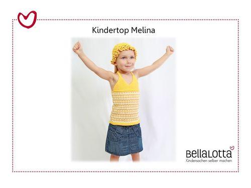 Strickset Kindertop Melina Gr. 98 bis 128