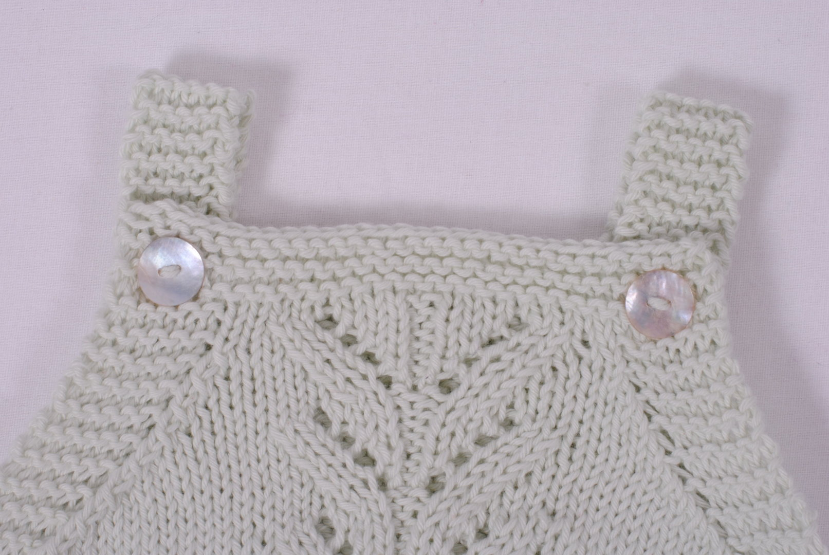 Strickset Baumwolle - Babystrampler Murmel in der Größe 62/68