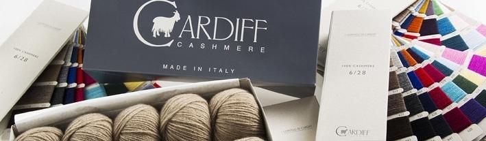 Cashmere in hellbraun meliert - 100% cashmere von Cardiff Italy