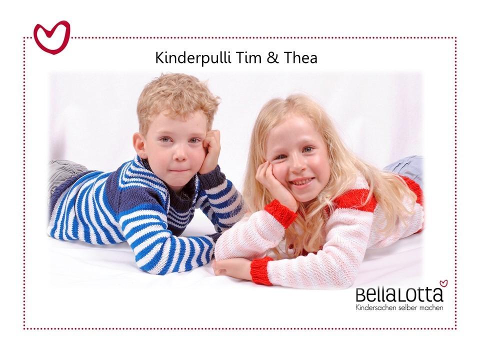 Strickset Kinderpullover Thea für Mädchen in 3 Größen von 3-8 Jahren
