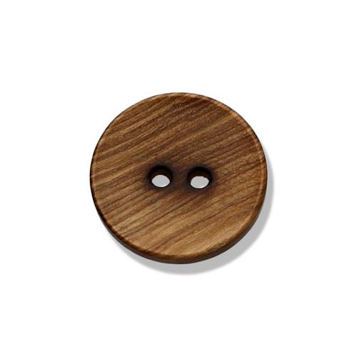 Holzknopf gemasert 2-Loch - 20mm