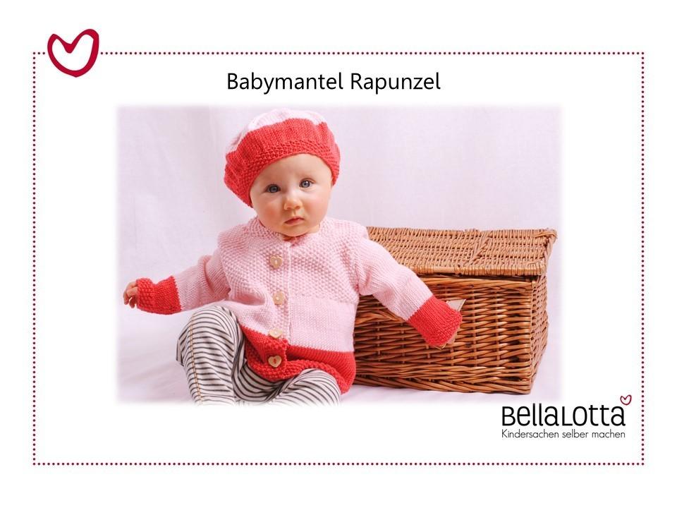 Strickset Merino - Babymantel Rapunzel in 3 Größen von 3 bis 24 Monaten