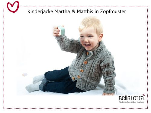Strickset Magic+ - Kinderjacke Martha & Matthis in 3 Größen von 98 bis 128